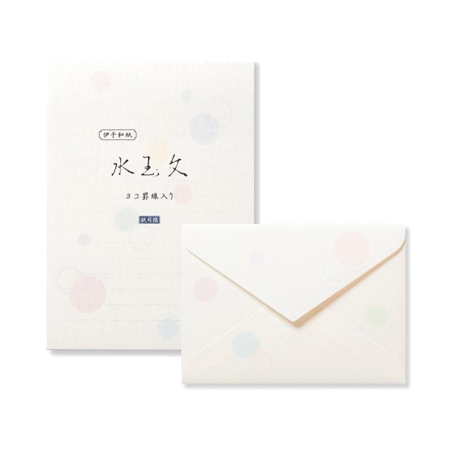 紙司撰 A5・水玉文 ヨコ罫 便箋/封筒セット