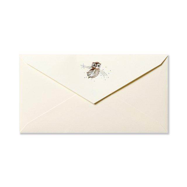 封筒 フクロウ