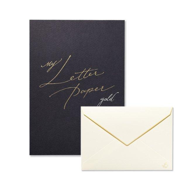 便箋 My Letter Papergold/封筒 My Letter Papergold