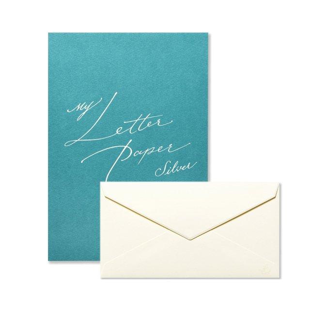 便箋 My Letter Paper silver/封筒 My Letter Paper silver