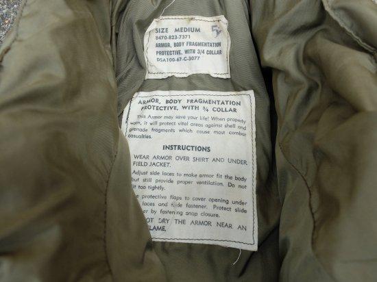 米軍M69ボディーアーマー(新同品)