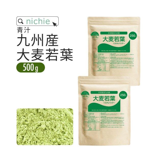 大麦若葉 茶製法 九州産 500g(250g×2袋)