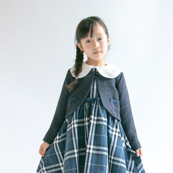 ミックスツイードジャケット / nino(ニノ) / ネイビー / 120-130cm