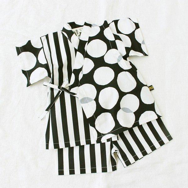 アシメ甚平スーツ(ドット柄)/ nino(ニノ)/ 80-120cm