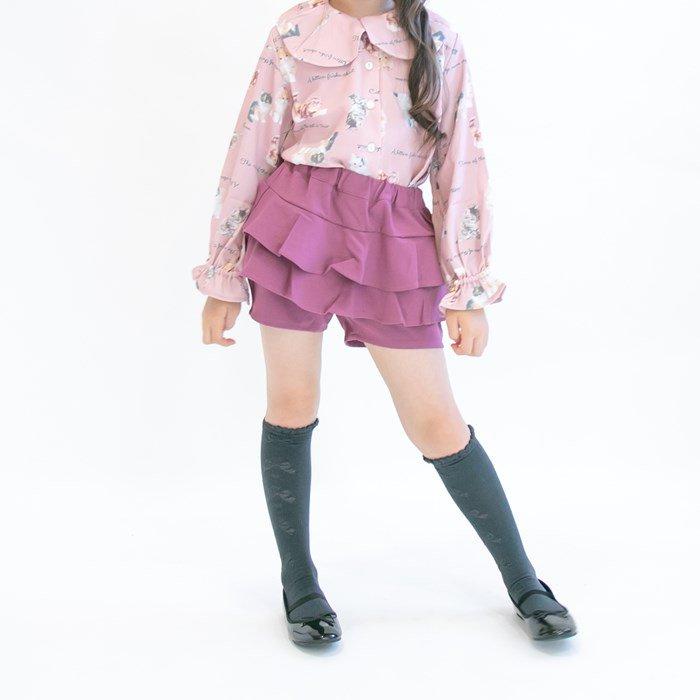ペプラムショートパンツ / nino(ニノ)/ ピンク / 90-150cm