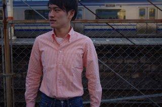 """【40%OFF】林氏別注 """"GIZA88ロンドンストライプシャツ"""""""