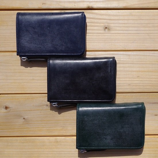 "SLOW BRIDLE "" round zip short wallet"""