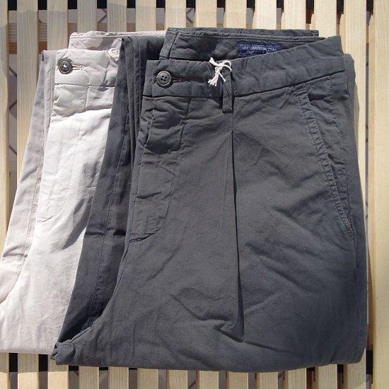 "RICCARDO METHA ""1tuck wide trousers garment wash"""