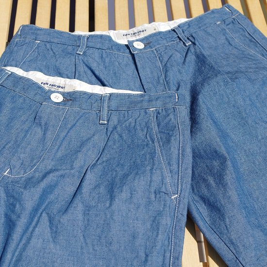 "FOB FACTORY ""F4162 CARLO CHAMBRAY SHORTS"""