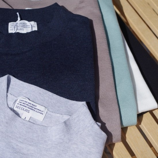 "SECOURS ""superpiuma 16G high necked knit tee"""