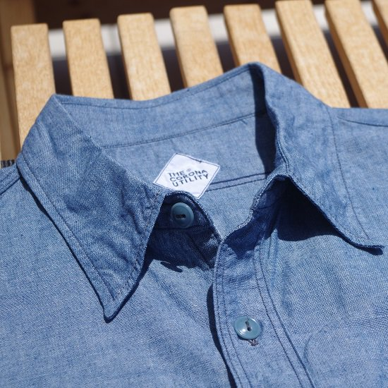 "CORONA ""NAVY 1POCKET CHAMBRAY SHIRTS"""