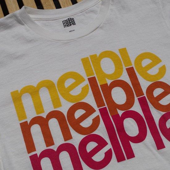 "【20%OFF】melple ""3連ロゴTEE"""