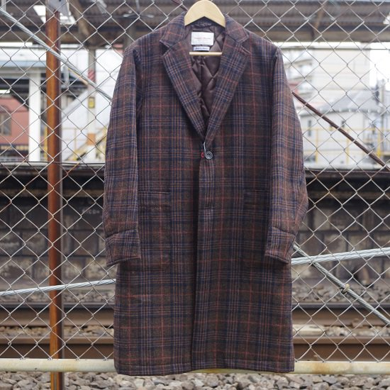 "Vincent et Mireille ""wool check cover coat"""
