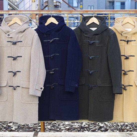 "SECOURS ""wool herringbone duffle coat"""