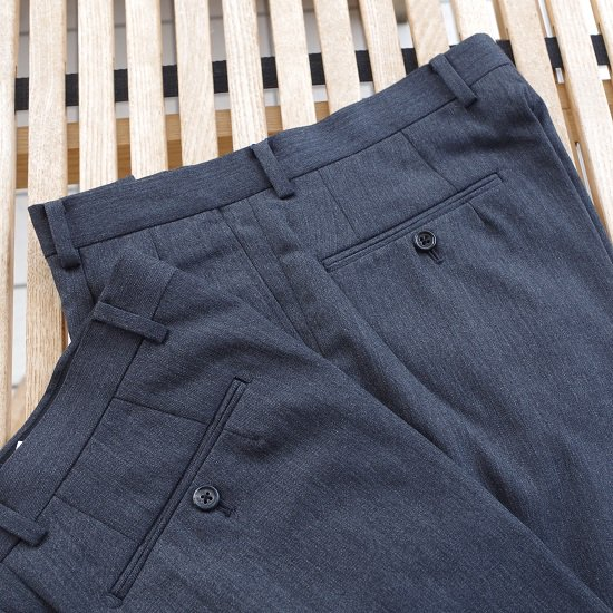 "【20%OFF】Pt.Alfred ""wool gabardine 2tuck trousers"""