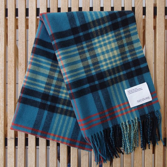 "SECOURS ""Tartan check CASHMERE STALL"""