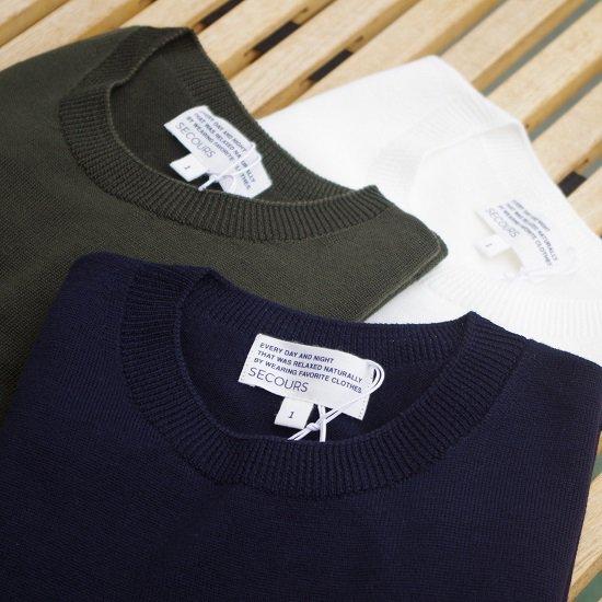 """SECOURS """"hard twist wool yarn whole garment L/S TEE"""""""