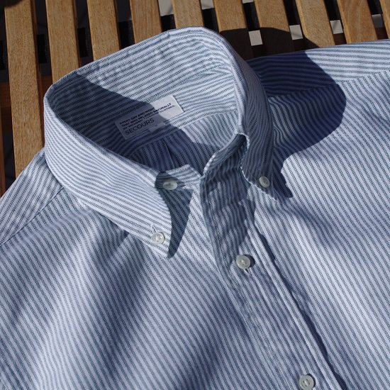 "SECOURS ""candy stripe B.D SHIRTS"""