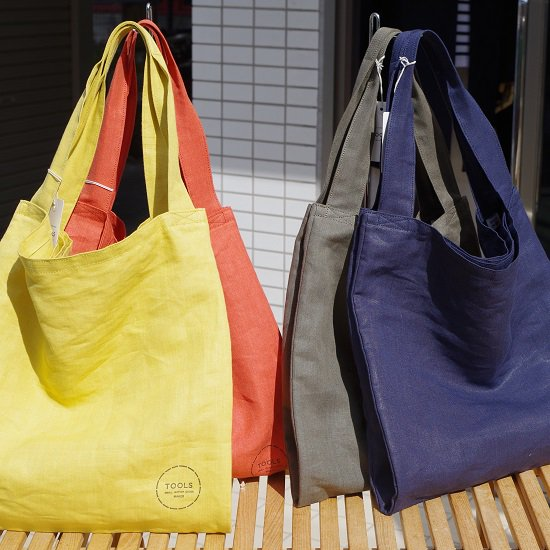 "SLOW  ""relax linen tote bag"""