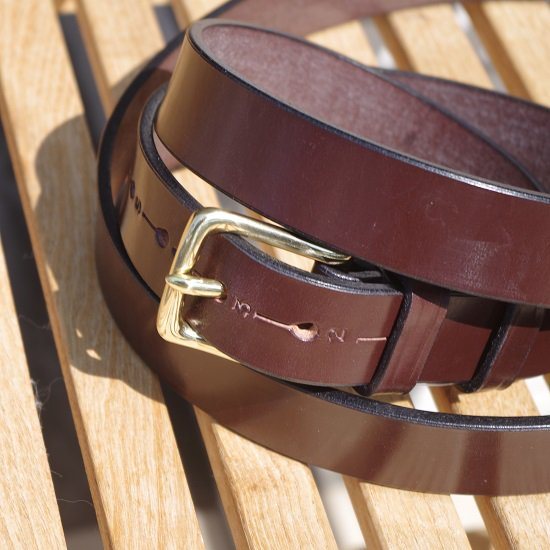 "HARDY&CLEVERLEY ""BRIDLE LEATHER BELT"""
