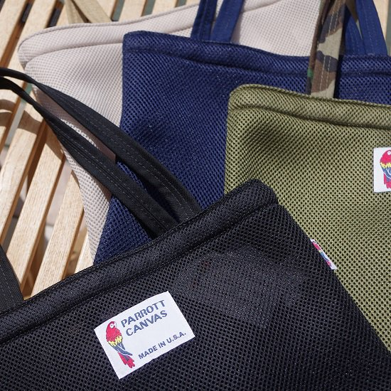 "【20%OFF】parrott canvas ""MESH TOTE BAG"""