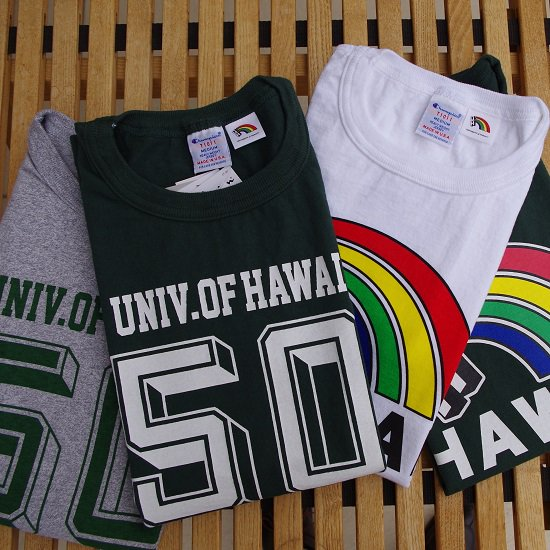 "Champion ""T1011 UNIVERSITY of HAWAII print tee"""