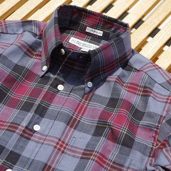 "INDIVIDUALIZED SHIRTS ""Dark Madras Ckeck B.DShirt"""