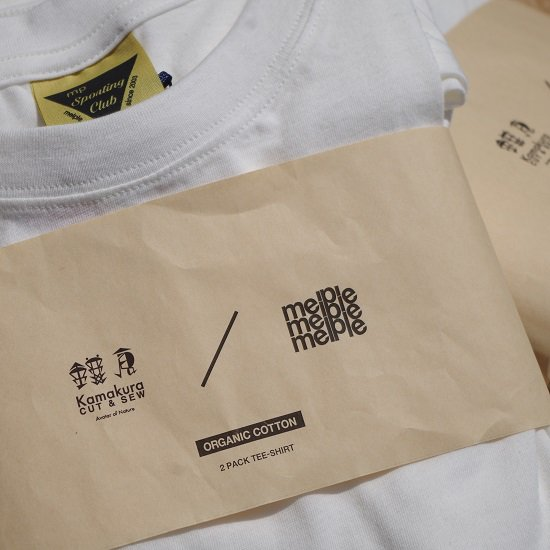"melple×鎌倉cut&sew ""2pack TEE"""