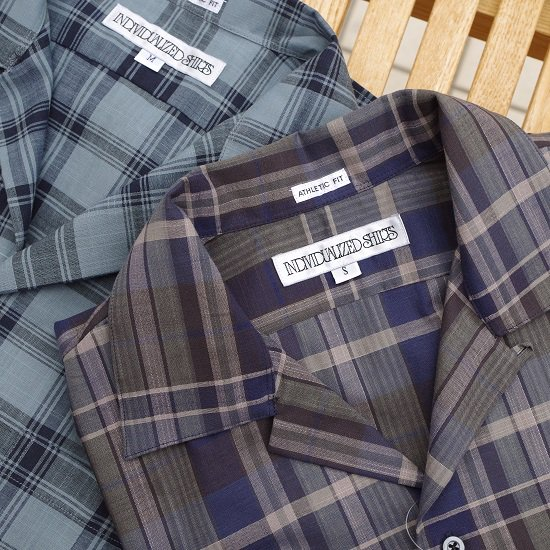 "【20%OFF】INDIVIDUALIZED SHIRTS ""DARK MADRAS CHECK SHIRT"""