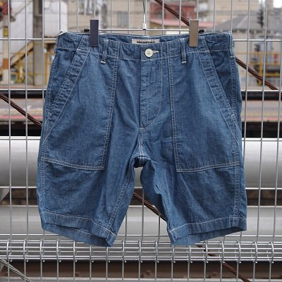 "【LLサイズのみ】FOB FACTORY ""F4162 CARLO CHAMBRAY SHORTS"""