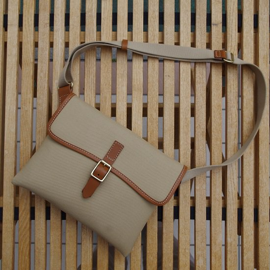 "SLOW ーTraditional Cotton Serge- ""Flap Shoulder Bag"""