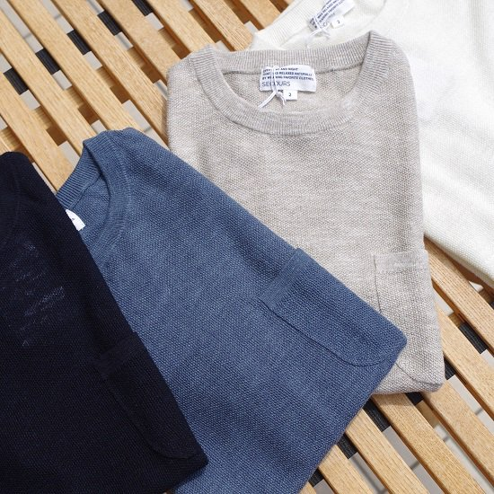 """【30%OFF】SECOURS """"LINEN COTTON 鹿の子クルーネック"""""""