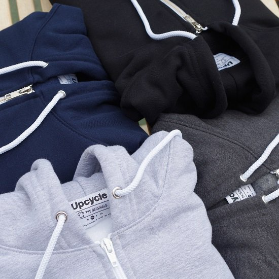 "UP CYCLE ""50/50 ZIP HOODIE"""