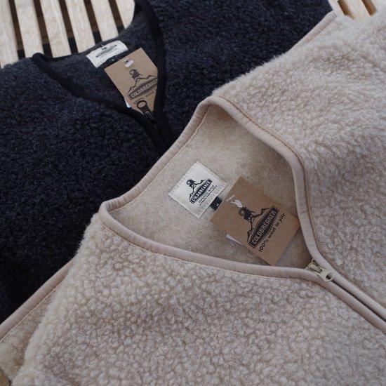 """【20%OFF】  COLDBREAKER """"wool pile zip cardigan"""""""