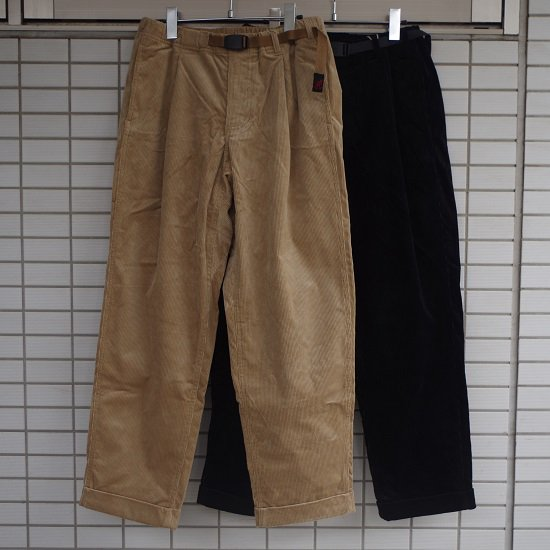"Gramicci ""CORDUROY TUCK TAPERED PANTS"""