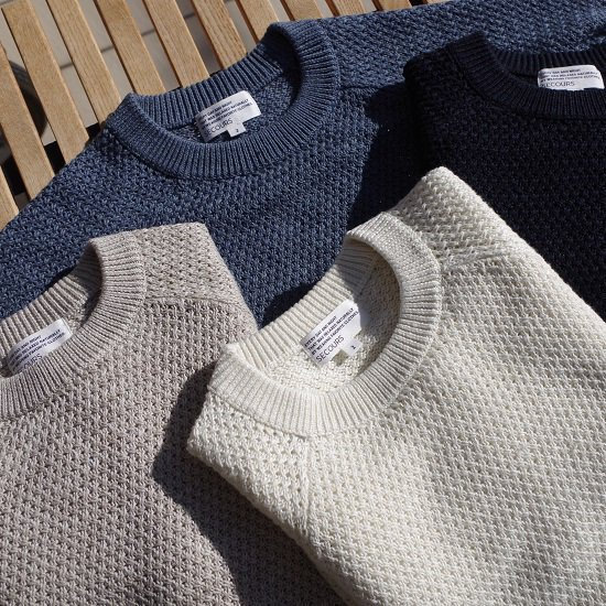"【40%OFF】 SECOURS ""LINEN COTTON 鹿の子編みクルーネック""【ladies'】"