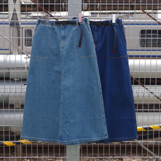 "【20%OFF】Gramicci ""DENIM BAKER SKIRT"""
