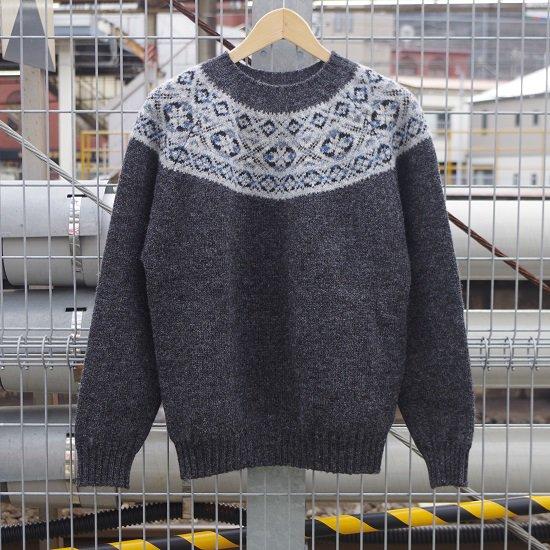 "Jamieson's ""Fairisle Yoke Pullover Knit"""