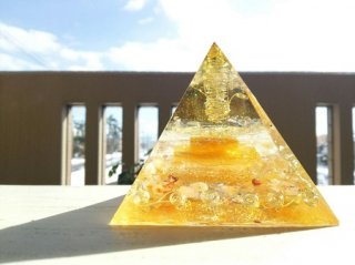 オルゴナイト☆ピラミッド エジプシャン大  豊かさと天への祈り