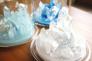 オルゴナイト☆聖なる泉 魔法陣 ホワイト ガラスドーム入り