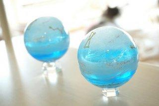 [S様オーダー分]オルゴナイト☆球体 シリウスブルー