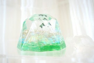 オルゴナイト☆バタフライ ダイヤモンド型大 グリーン