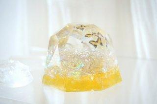 オルゴナイト☆バタフライ ダイヤモンド型大 イエロー