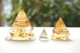 オルゴナイト☆ピラミッド エジプシャン3点セット ブロンズゴールド