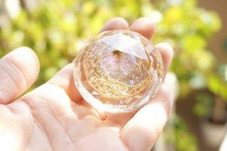 オルゴナイト☆月の雫 ダイヤ型 ゴールド中