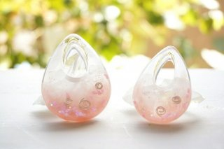 【A様オーダー分】オルゴナイト☆ペンダントトップ 木花咲耶姫(コノハナサクヤヒメ) 大中ペア