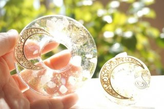 オルゴナイト☆ディスク型 月の雫 大小 ゴールド
