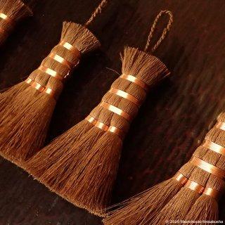 【在庫のある棕櫚箒】棕櫚皮荒神箒3玉/共柄/銅線巻[B送料]