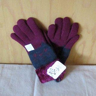 内ボア(2重)5指手袋 ネコ