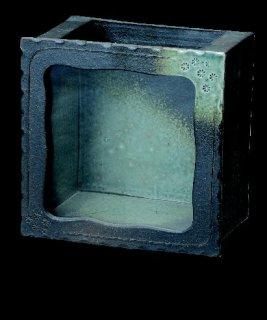 「陶水槽正角(黒釉)」【信楽陶器卸商業協同組合】